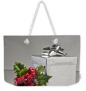 Silver Present Weekender Tote Bag