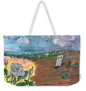 Silver Rose Weekender Tote Bag