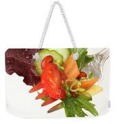 Silver Salad Fork Weekender Tote Bag