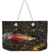 Silver Salmon Spawning Weekender Tote Bag