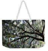 Silver Savannah Tree Weekender Tote Bag