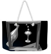 Silver Space Champagne Weekender Tote Bag