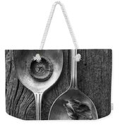 Silver Spoons Black And White Weekender Tote Bag