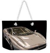 Silver Sports Car Weekender Tote Bag by Edward Fielding