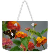 Silver-spotted Skipper Butterfly On Lantana Blossoms Weekender Tote Bag