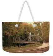 Silver Suspension Bridge Weekender Tote Bag