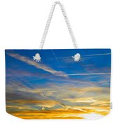 Silver Wing Sunset Weekender Tote Bag