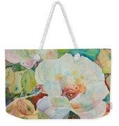 Simple Floral Weekender Tote Bag
