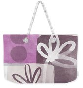 Simple Flowers- Contemporary Painting Weekender Tote Bag by Linda Woods