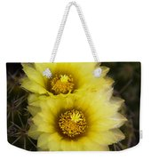 Simply Golden Cactus Flowers  Weekender Tote Bag