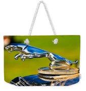 Simply Jaguar-front Emblem Weekender Tote Bag