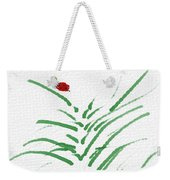 Simply Ladybugs And Grass Weekender Tote Bag