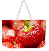 Simply Strawberries Weekender Tote Bag