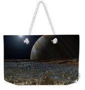 Simulated View From Europas Surface Weekender Tote Bag
