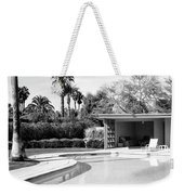 Sinatra Pool And Cabana Bw Palm Springs Weekender Tote Bag