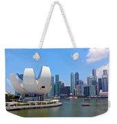 Singapore Artscience Museum And City Skyline Weekender Tote Bag
