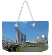 Singapore Artscience Museum Double Helix Bridge And Marina Bay  Weekender Tote Bag