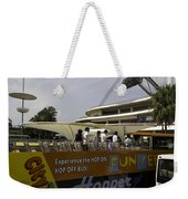 Singapore Flyer Along With The Sight-seeing Bus That Takes Tourists Around The City Weekender Tote Bag