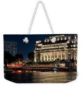 Singapore Fullerton Hotel At Night 02 Weekender Tote Bag