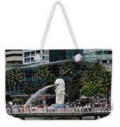 Singapore Merlion Park Weekender Tote Bag