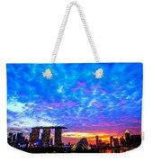 Singapore Skyline Weekender Tote Bag