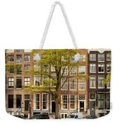 Singel Canal Houses In Amsterdam Weekender Tote Bag