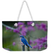 Singing Blue Bird Weekender Tote Bag