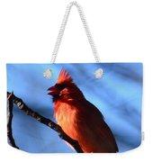 Singing Cardinal Weekender Tote Bag