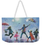 Singing In The Rain Super Hero Kids Weekender Tote Bag