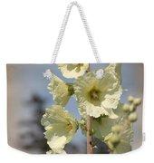 Single Buttercream Hollyhock Weekender Tote Bag