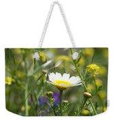 Single Daisy In A Field Weekender Tote Bag