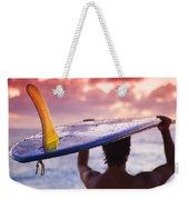 Single Fin Surfer Weekender Tote Bag