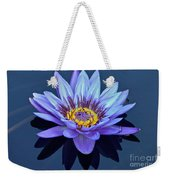 Single Lavender Water Lily Weekender Tote Bag