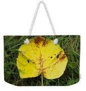Single Leaf Weekender Tote Bag