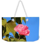 Single Pink Flower Weekender Tote Bag