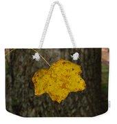 Single Poplar Leaf Weekender Tote Bag