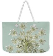 Single Queen Anne's Lace Weekender Tote Bag