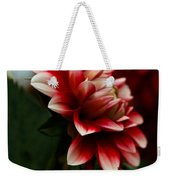 Single Red Dahlia Weekender Tote Bag