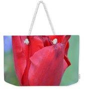 Single Red Tulip Weekender Tote Bag
