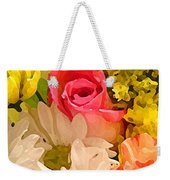 Single Rose Bouquet Weekender Tote Bag