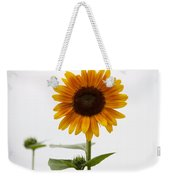 Single Sunflower Weekender Tote Bag