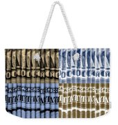 Singles In Gold And Blue Weekender Tote Bag
