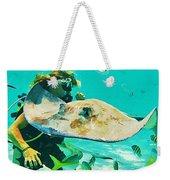 Singray City Cayman Islands Four Weekender Tote Bag