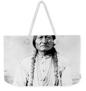 Sioux Chief Sitting Bull Weekender Tote Bag by War Is Hell Store