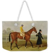 Sir Tatton Sykes Leading In The Horse Sir Tatton Sykes With William Scott Up Weekender Tote Bag
