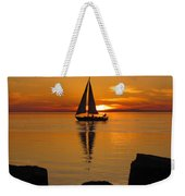 Sister Bay Sunset Sail 2 Weekender Tote Bag