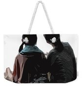 Sisters At The Zen Garden Weekender Tote Bag