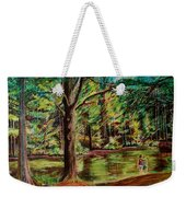 Sisters At Wason Pond Weekender Tote Bag by Sean Connolly