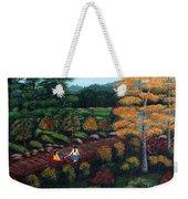 Sister's Autumn Stroll Weekender Tote Bag