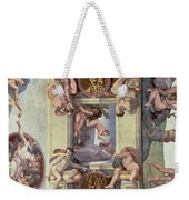 Sistine Chapel Ceiling 1508-12 The Creation Of Eve, 1510 Fresco Post Restoration Weekender Tote Bag